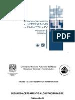 Segundo Acercamiento de Francés I a IV