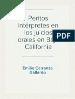 Peritos Intérpretes en los Juicios Orales en Baja California - Carranza Gallardo (2016)