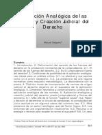 Salguero, Manuel - Aplicación Analógica de Las Normas - Artigo