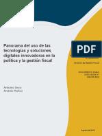 Panorama Del Uso de Las Tecnologias y Soluciones Digitales Innovadoras en La Politica y La Gestion Fiscal