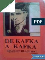 De Kafka a Kafka - Maurice Blanchot