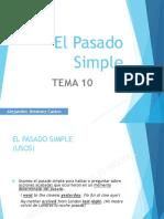 Tema 10 (El Pasado Simple)