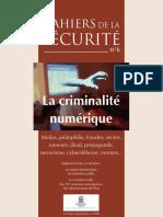 (Cahiers de la sécurité et de la justice N°6) coll. - La criminalité numérique-la documentation française (2008)