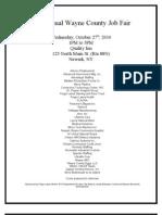 Wayne County Job Fair Flyer