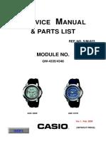 Casio Aqf101 User Manual