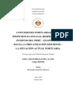 Tesis u. Lima Concesiones Portuarias de La Ineficiencia Estatal Hacia La Privatización Eficiente