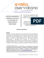 Vista do A ESPETACULARIZAÇÃO E CONEXÃO DA POLÍTICA E DA CIDADANIA NO ESPAÇO PÚBLICO MIDIATIZADO