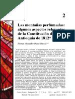 Olano-Las montañas perfumadas. Algunos aspectos relevantes de la Constitución de Antioquia de 1812.pdf