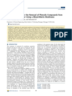 Process Modeling for the Removal of Phenolic Compounds From