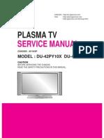 LG DU-42PY10X Plasma TV Service Manual