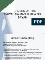 Awardees of the Gawad Sa Manlilikha Ng Bayan
