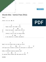 Vamos Para Àfrica Cifra - Mundo Bita _ Cifras