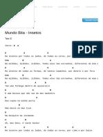 Insetos Cifra - Mundo Bita _ Cifras
