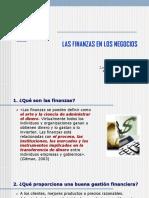 1 - Las Finanzas en Los Negocios