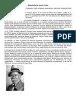 Biografía Rafael Álvarez Ovalle