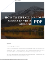 5 Steps to Install MacOS High Sierra in VirtualBox on Windows 10 - Saint