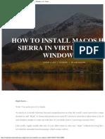 5 Steps to Install MacOS High Sierra in VirtualBox on Windows 10 - Saint