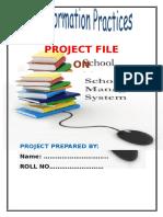 PROJECT FILE School Mangement System