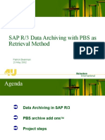 SAP R3 Archiving With PBS
