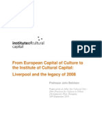 From European Capital of Culture to the Institute of Cultural Capital