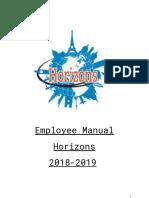 horizons employee handbook  2