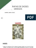 BIOGRAFÍAS DE DIOSES GRIEGOS