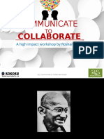 communicate to collaborate