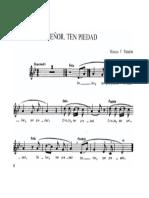 Senor Ten Piedad Palazon (Coro a 4 Voces Melodiía en Pueblo)