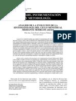 Análisis de la evolución de la sintomatologia del ciclo menstrual mediante modelos Arima