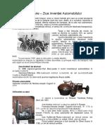 Material Informativ Istoria Automobilului