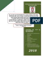 5.1.- Modelo Plan de Mantenimiento. (Sistema Sihuaypampa)