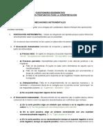 Desiderativo - Criterios de Interpretación