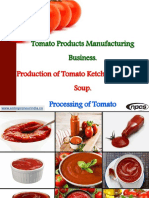 Tomato Products Manufacturing Business