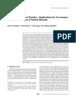 Wachinger Risk Perception Paradox 2013