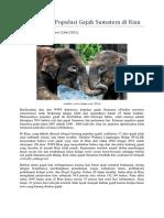 Menurunnya Populasi Gajah Riau