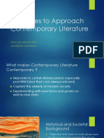 Strategies in Contemporary Literature