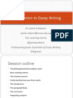 Introduction to Essay Writing - By Dr Jamie Roberts (Author of Essentials of Essay Writing)