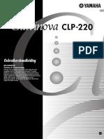 Nederlandstalige Handleiding Yamaha CLP 220