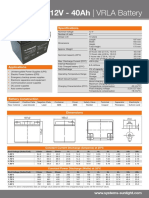 Accuforce 12v 40ah Data Sheet