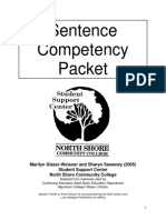 Sentence Competency Packet