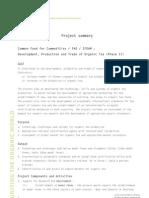 Project Summary on Organic Tea