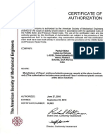 Codeline ASME Certificate