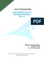 Hardware IDirect Basic Console Commands