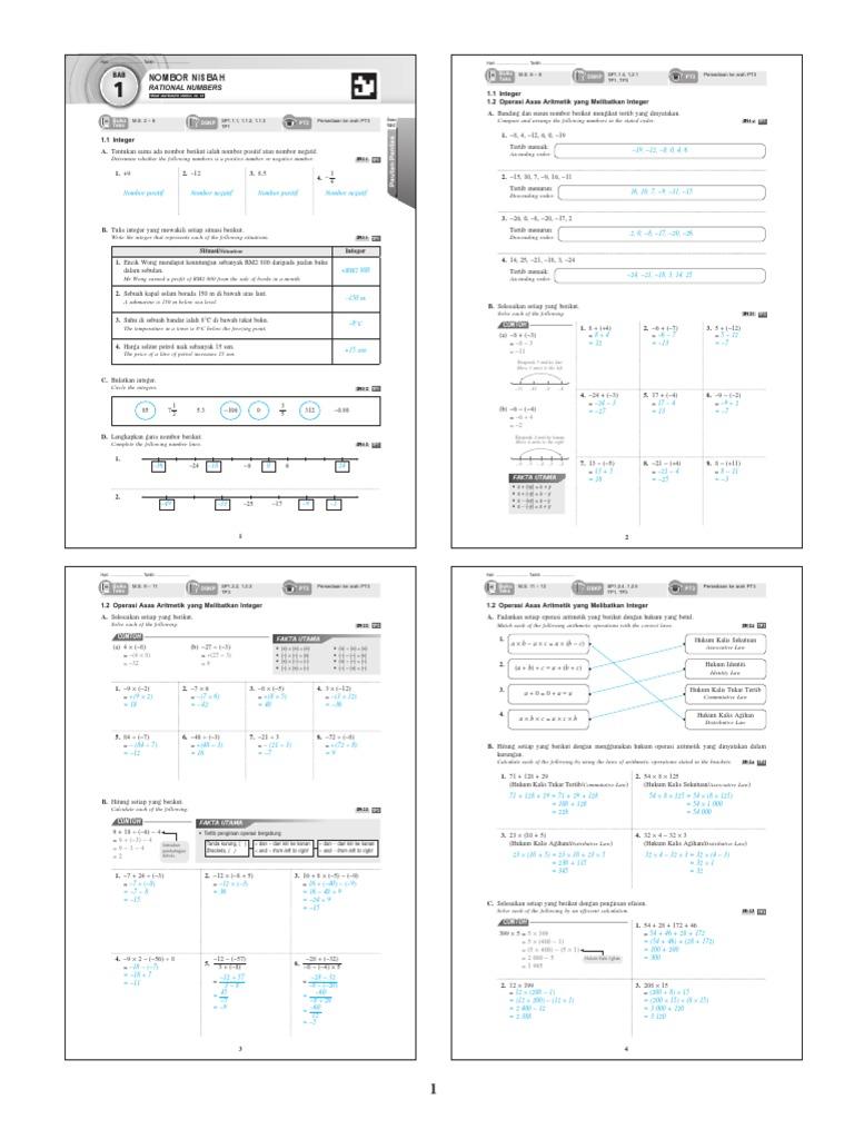 Jawapan Buku Latihan Matematik Tingkatan 2 ...