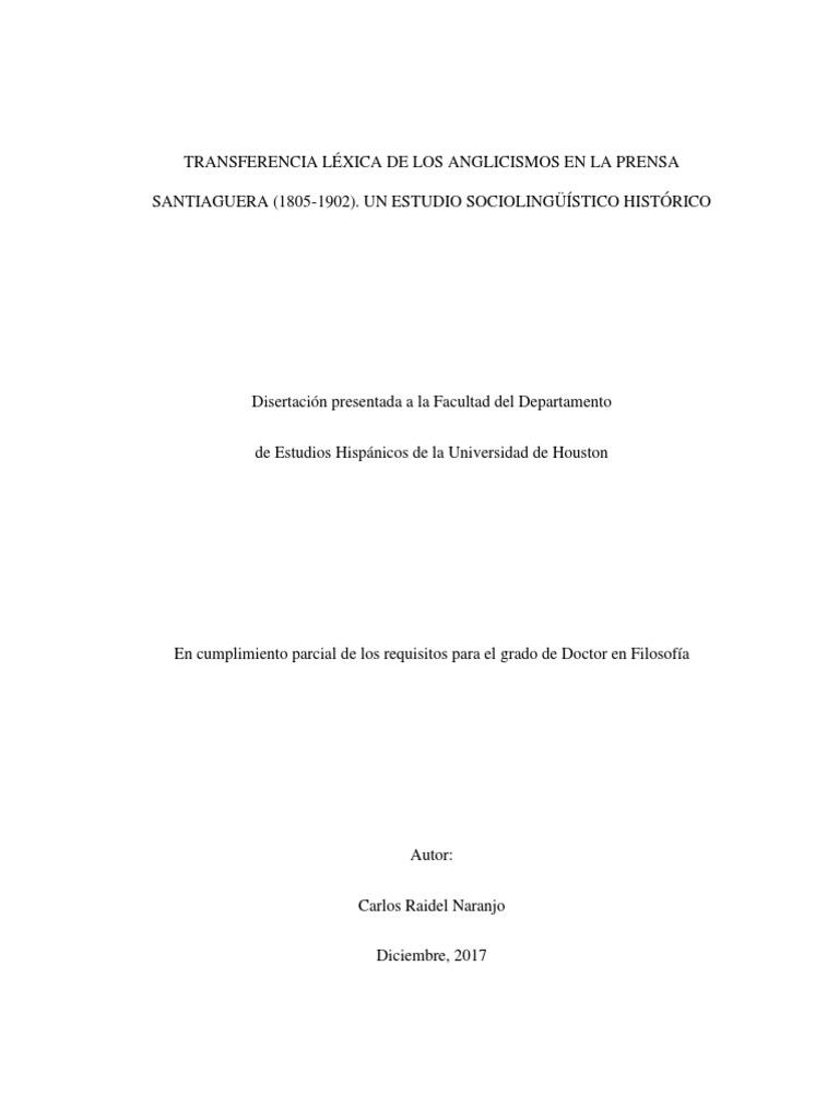 Transferencia Lexica de Los Anglicismos   PDF   Sociolingüística ...