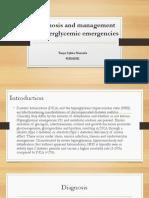 Diagnosis and Management Hiperglikemi