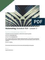 Automating Autodesk RSA - Lesson 1