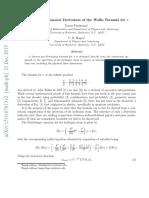 Wallis Product Proof From Quantum Mechanics