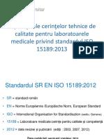 1. Curs Postuniv. ISO 15189 Cerinte Tehnice 2017- Suport Curs