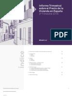 Informe trimestral sobre el precio de la vivienda en España (T2 de 2018)